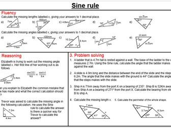 Higher Trigonometry worksheets