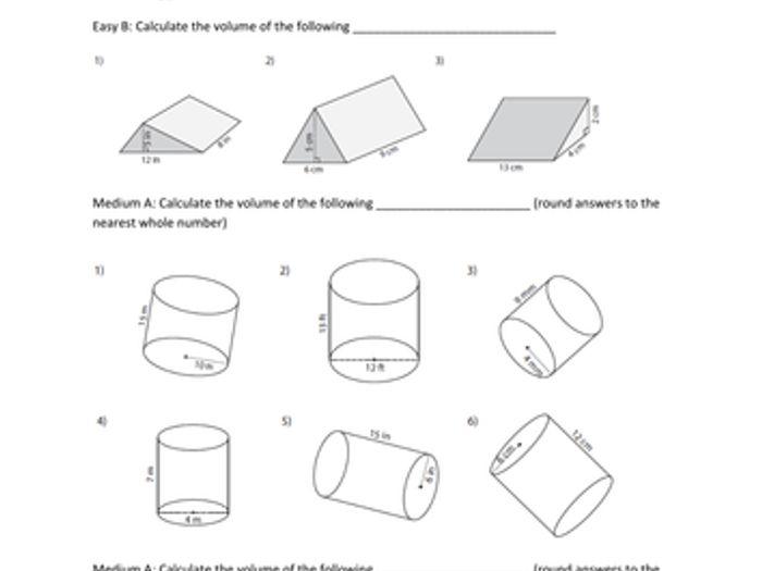 Volume Of 3D Shapes Worksheet Free Worksheets Library – Volume of 3d Shapes Worksheet
