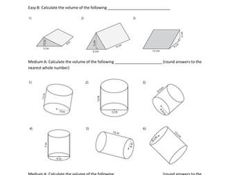 volume worksheet with answers 3d shapes by prabhleenkaur teaching resources tes - Volume Worksheet