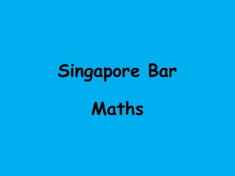 Singapore Bar Maths