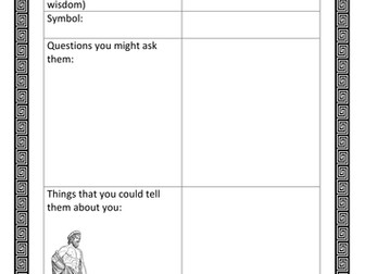 Planning a Letter to a Greek God or Goddess