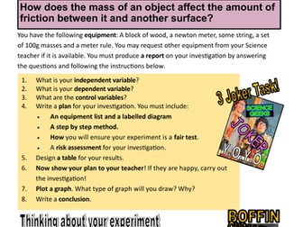 SCIENCE EXPERIMENTS - YOYO INVESTIGATION - FRICTION! PRACTICAL TIME!