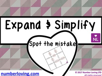 Expand and Simplify (Spot the Mistake)