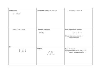 Algebra Grid 2