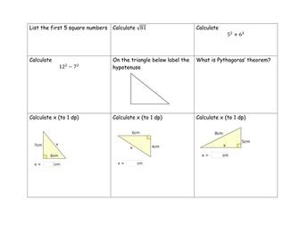 Pythagoras grid