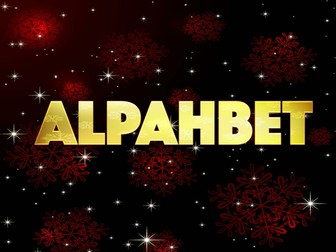 The Alphabet-Gold Sparkle