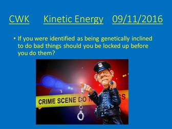 Kinetic Energy lesson plan and presentation