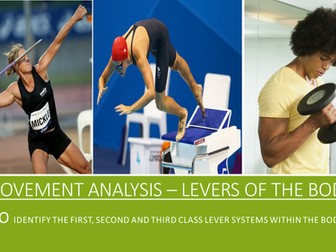 GCSE PE AQA (9-1) Movement Analysis - 1st, 2nd and 3rd Class Lever Systems