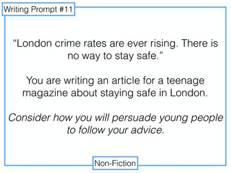 9-1 GCSE Writing Prompts 11-15: Non-Fiction