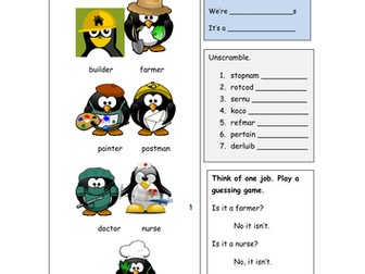 Complete ESL/EAL class on jobs vocab - what do you do?