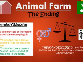 Animal Farm: The Ending (Orwell's Message)