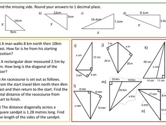 Pythagoras recap lesson