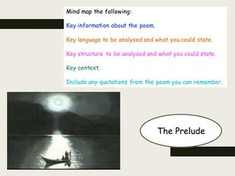 The Prelude Revision - AQA New Spec