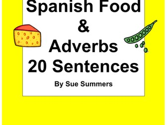Spanish Food and Adverbs of Time 20 Sentences with Image IDs