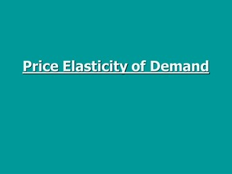 Elasticities (PED, XED, YED): A Level Economics