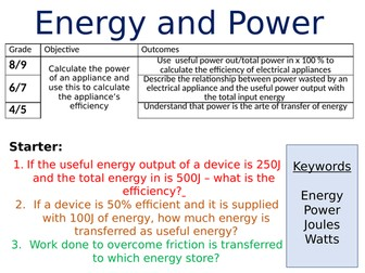 NEW AQA GCSE Physics (2016) - Energy & Power