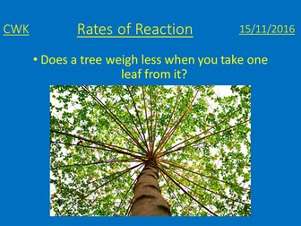 GCSE Additional Science - Rates of reaction - temperature