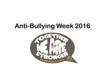 Assembly - Anti Bullying Facts, Figures and the Impact of Bullying