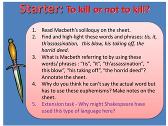 Macbeth - Act 1, Scene 7