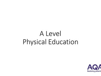 A Level PE - The Theories of Learning  - Skill Aquisition