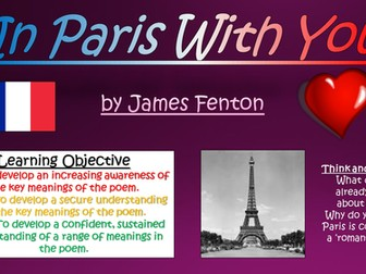 In Paris With You - James Fenton - Love and Relationships Poetry
