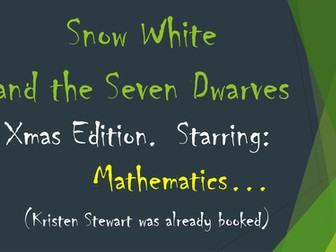 Xmas Snow White Mathematics Word Problems Story Powerpoint