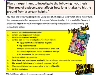 SCIENCE EXPERIMENTS - YOYO PHYSICS INVESTIGATION! AIR RESISTANCE! - EXPERIMENT TIME!