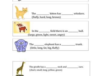 Describing Words .