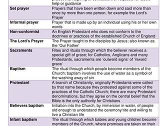 AQA 9-1 Christianity Practices - Worship