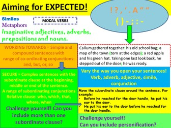 Year 6 differentiated writing success criteria