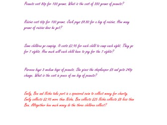 4 Activities for Teaching Money