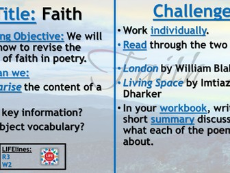 WJEC Faith Poetry Recap