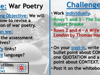 WJEC War Poetry Recap