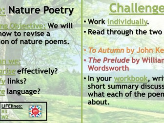 WJEC Nature Poetry Recap