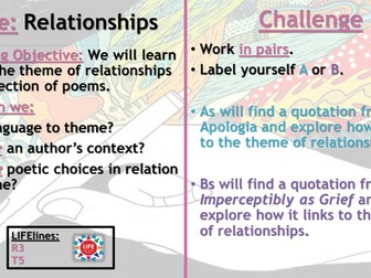 WJEC Relationships Poetry Recap