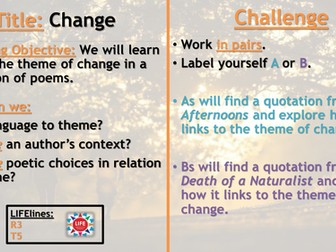 WJEC Change Poetry Recap