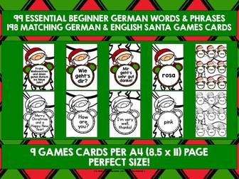 GERMAN STARTER VOCABULARY (1) - CHRISTMAS GAMES & ACTIVITIES