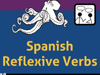Spanish Task Cards for Reflexive Verbs * Verbos Reflexivos * Animales del Mar
