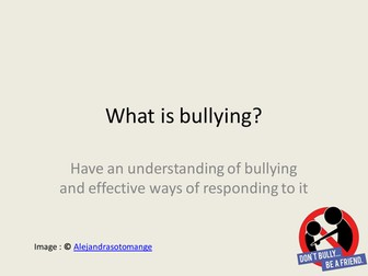 Anti-Bullying SMSC Lesson