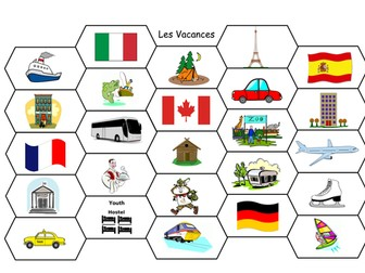 FRENCH - Holidays - LES VACANCES - Game