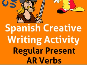 Spanish Creative Writing * Regular Present AR Verbs* Verbos Regulares con AR * español