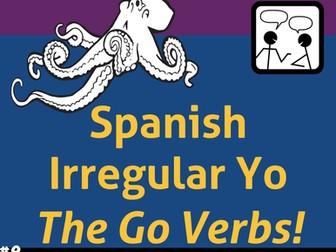 Spanish Task and Pairing Cards * Present Tense Irregular YO GO Verbs * Hablar y Escribir en español