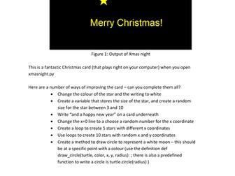 Python Christmas Xmas night