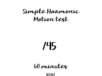 SHM Simple Harmonic Motion Resources by beccy597