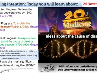 Medicine Through Time: 20th Century Ideas About The Cause of Disease (Edexcel 1-9)