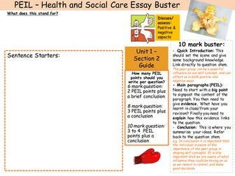 health and social care 12 essay