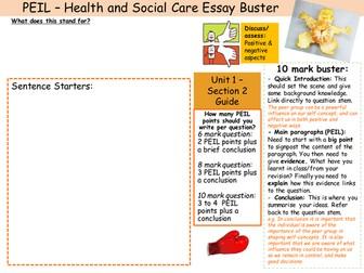 PEIL exam technique mat GCSE Health and Social Care Edexcel