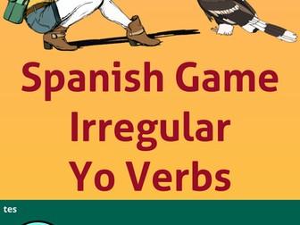 Spanish Verb Game * Irregular Present Yo Verbs * Verbos irregulares en Español en la forma de YO