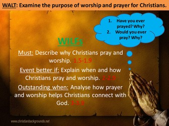 The purpose of worship and prayer for Christians