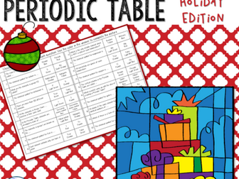 Holiday themed science color by number activities by liezelpienaar holiday themed periodic table color by number activity urtaz Choice Image